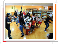 photo: The teachers are playing with the kids. (College of Education)